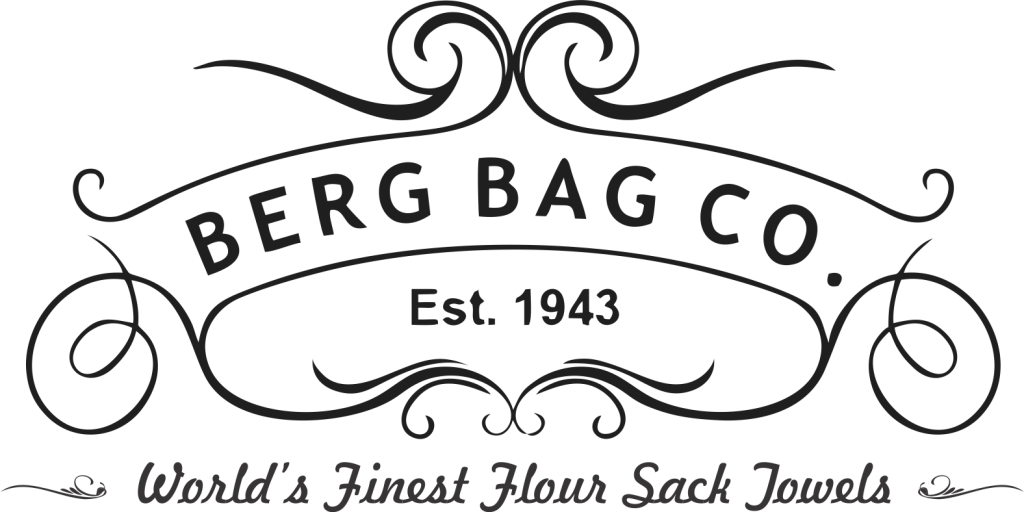 berg bag flour sack towel logo