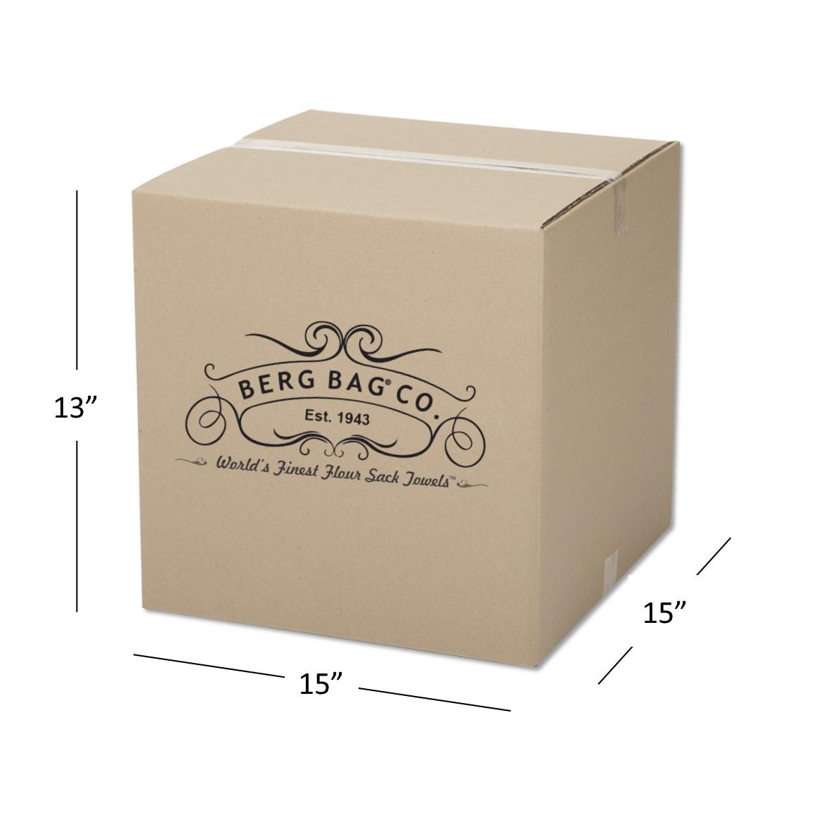 Pack of 6 Berg Bag Flour Sack Towels Bulk-30X30 White